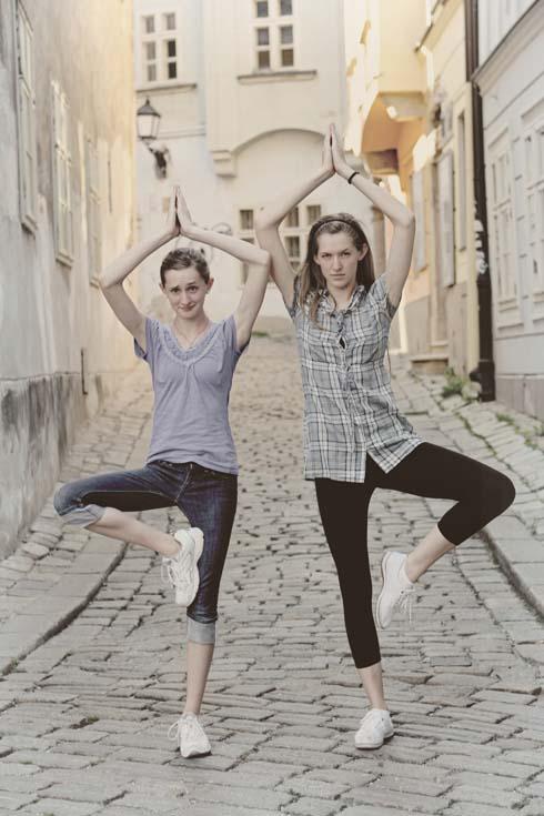 Bratislava - Tessa and Millay as ballerinas