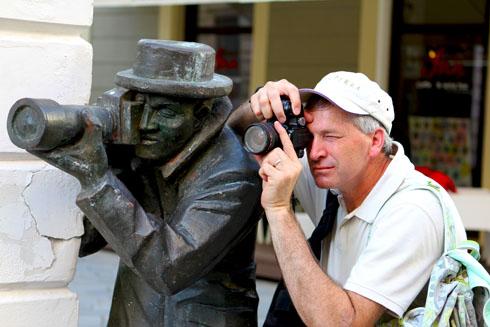 Bratislava - Dad with Paparazzi