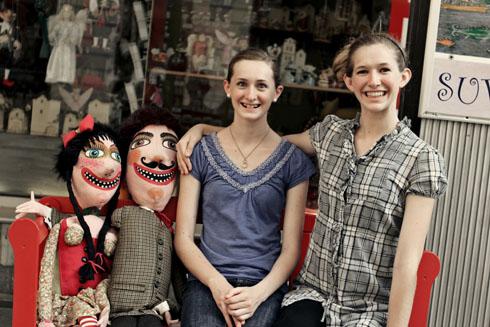 Bratislava - Tessa and Millay smiling big
