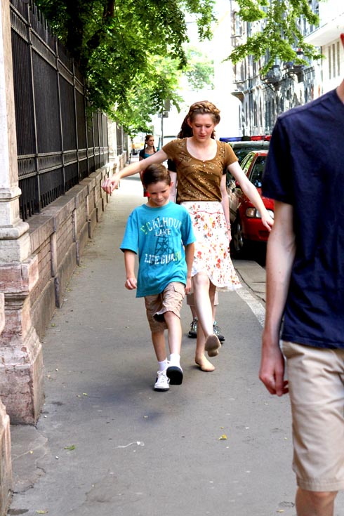 Budapest -Tessa and Silas marching