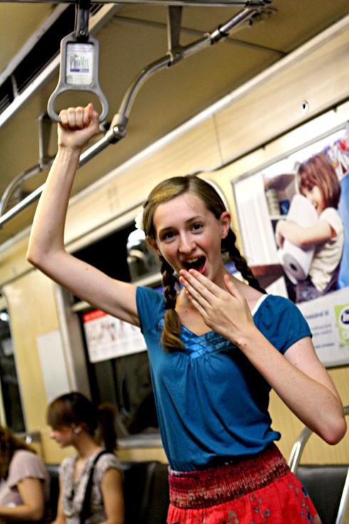 Budapest - Millay on the subway