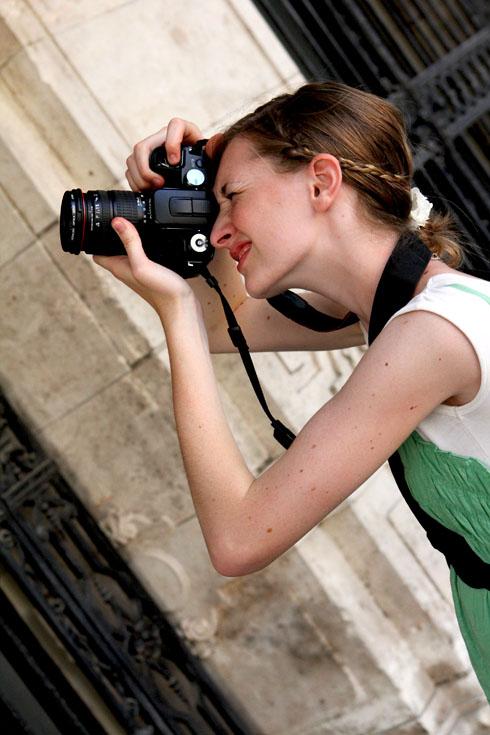 Budapest - Millay with the camera