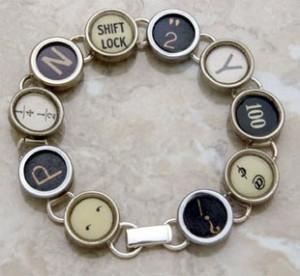 Typewriter Bracelets